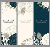 Piękny kwiatowy banery — Wektor stockowy