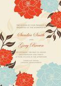 Bröllopsinbjudan eller meddelande — Stockvektor