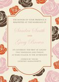 Wedding invitation or announcement — Stock vektor