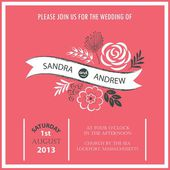 Wedding invitation or announcement — Wektor stockowy