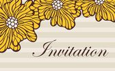Invitation card — Stockvector