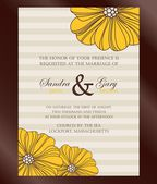 Beautiful vintage floral wedding invitation — Stockvektor