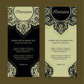 Vintage invitation cards — Stock Vector
