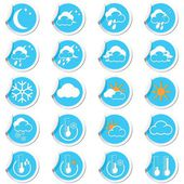 Weather forecast icons set — Stock Vector