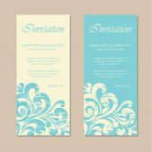 Floral vintage business or invitation card — Wektor stockowy