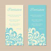 Cartão de negócios ou convite vintage floral — Vetorial Stock