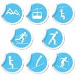 Winter sport icons set. — Stock Vector #46807581
