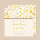 Carta di invito di nozze con sfondo floreale. — Vettoriale Stock