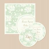 Set of wedding invitation cards — Stockvektor