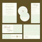 Vintage wedding invitation cards. — Stock Vector