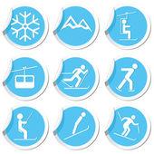 Winter sport icons set. — Cтоковый вектор