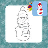 Cartoon snowman. — Stock Vector
