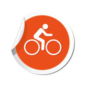 Cyclist icon — Stock Vector