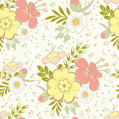 Seamless pattern with  floral background. — Stock Vector