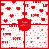 Arrière-plans mignons avec amour et coeurs — Vecteur