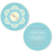 Double-sided floral wedding invitation card. — Vettoriale Stock
