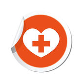 Medical heart and cross icon. — Stock Vector