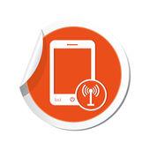 Telefoon met draadloze pictogram. — Stockvector