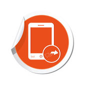 Phone with renew menu icon — Stock Vector