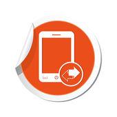 Phone with renew menu icon. — Stock Vector
