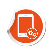 Phone with settings menu icon. — Stock Vector