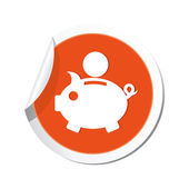 Piggy bank icon. — Stock Vector