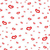 Cute background with hand drawn hearts — Stock Vector