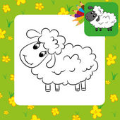 Cartoon sheep. — Stock Vector