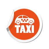 Taksi simgesi. — Stok Vektör
