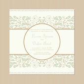 Carta di invito matrimonio — Vettoriale Stock