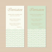 Vintage invitation cards — Stock Vector