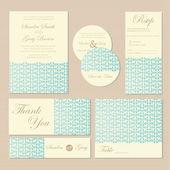 Wedding invitation cards. — Stock Vector