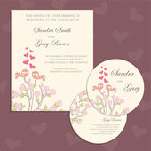 Wedding invitation cards with two birds — Vetorial Stock