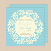 Wedding invitation card with floral ornament. — Stock Vector