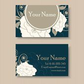 Floral business or visiting card — Stock Vector