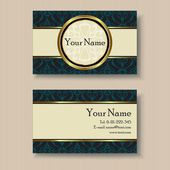 Stylish vintage business card template — Stock Vector