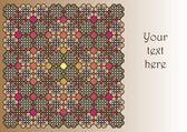Mosaic - the invitation card — Stock Vector