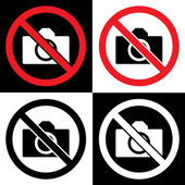 No photo and camera — Stock Vector