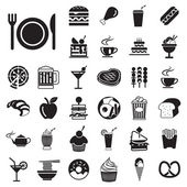 Vector menu food and drink icons set — Stock Vector