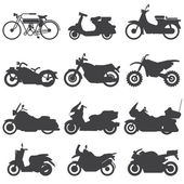 Motorcycle Icons set. Vector Illustration. — Stok Vektör