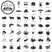 Farm icons Set — Stock Vector