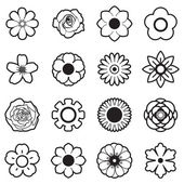 Flowers vector set, EPS10 — Stock Vector