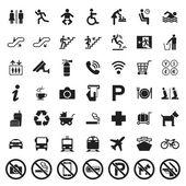 Public signs vector set — Stock Vector