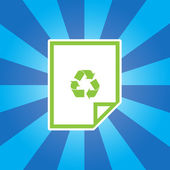 Recycle Paper icon — Stock Vector