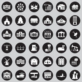 Buildings city icon set — Stock Vector