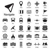 Navigation icons set — Stock Vector