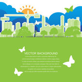 Green ecology city Concept — Stock Vector
