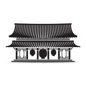 Símbolo de templo japonês e a china — Vetor de Stock