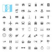 Travel landmark icons — 图库矢量图片
