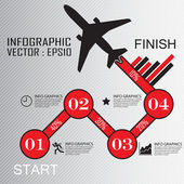 Step by Step infographics — Stock Vector